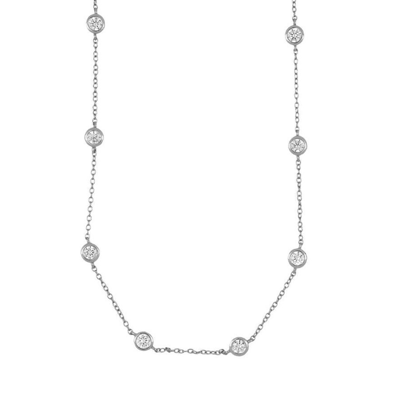 chocker circonitas blancas separadas plata