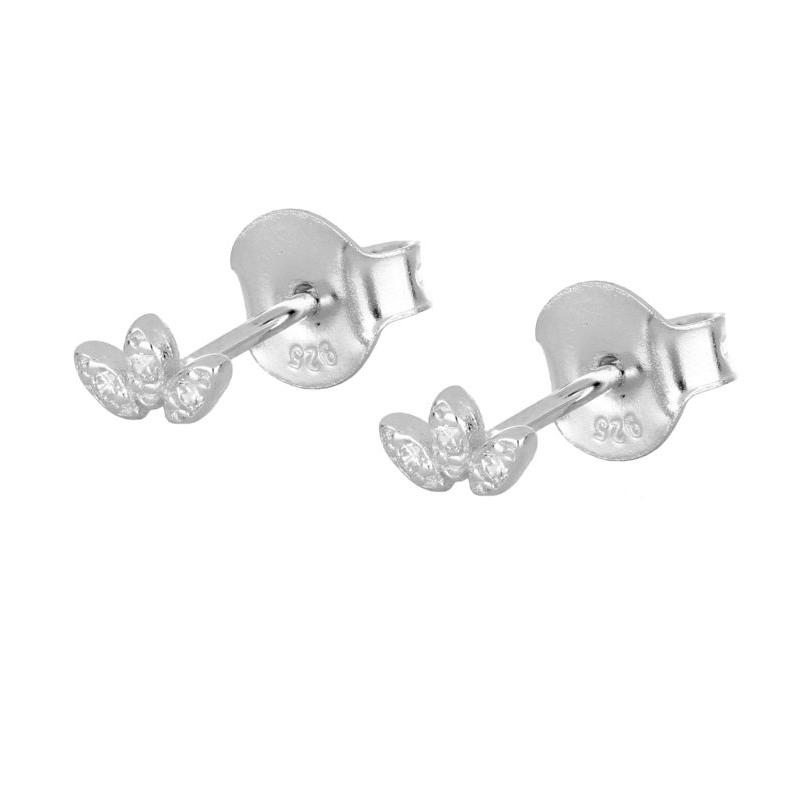 pendientes corona circonitas en plata
