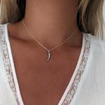 collar colmillo plata